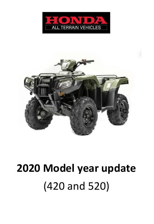The New 2020 Honda Range Changes Paul Gowland Atv Honda